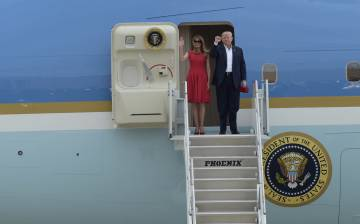 Donald Trump y la primera dama Melania Trump