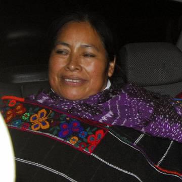 La indígena Jacinta Marcial, tras ser liberada en 2009
