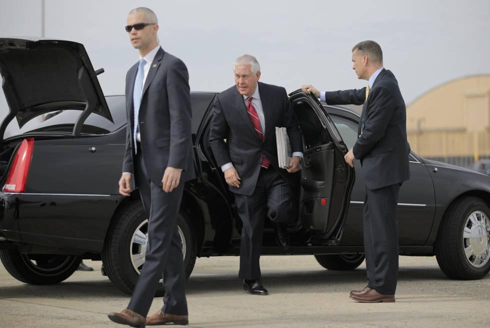 Tillerson, antes de partir a México.