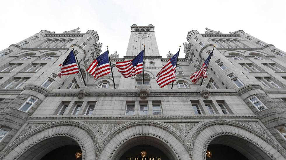 El hotel de Trump en Washington.