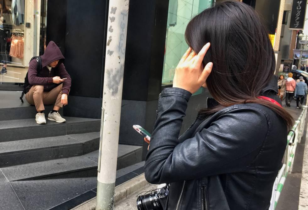 Jóvenes en el barrio de Shibuya, Tokio.