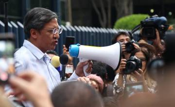 El periodista de La Jornada Arturo Cano durante la protesta por el asesinato de periodista