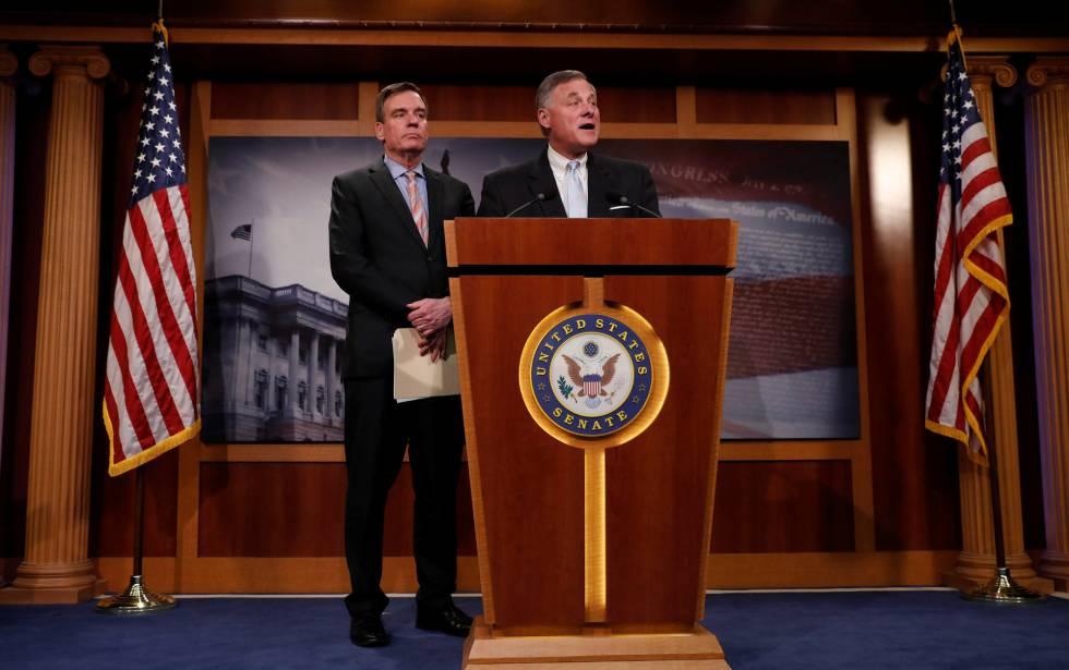 Los líderes del Comité de Inteligencia del Senado.