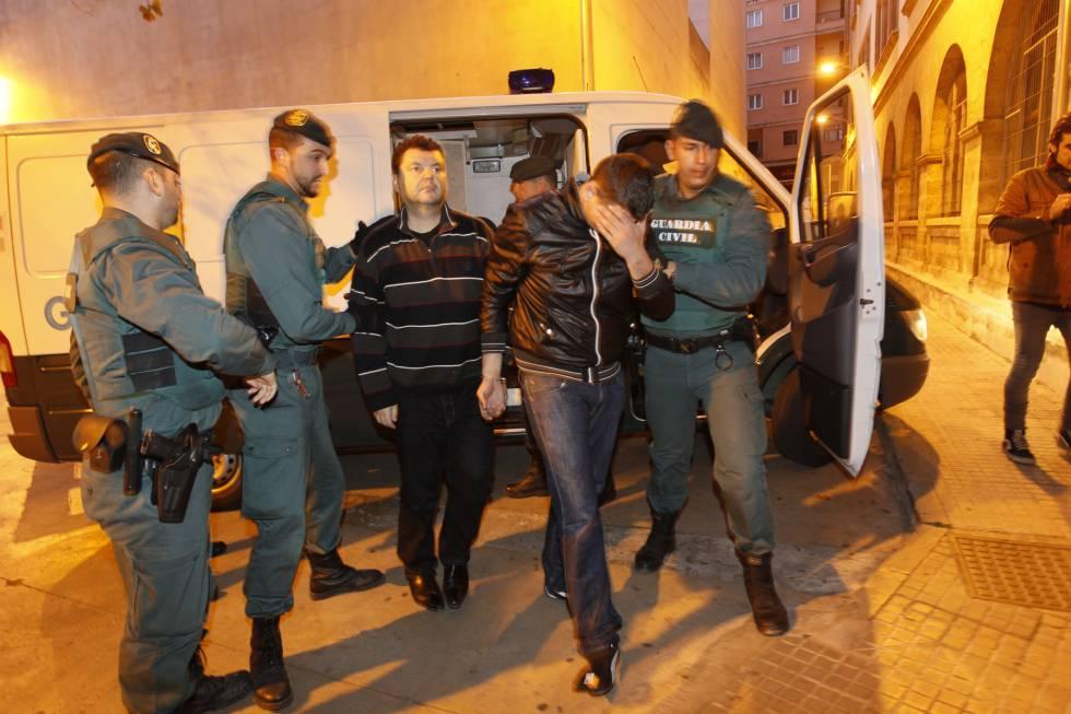 Romanov en el momento de su detención en Palma de Mallorca, en 2012.