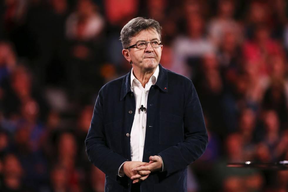 El candidato presidencial de Francia Insumisa, Jean-Luc Mélenchon