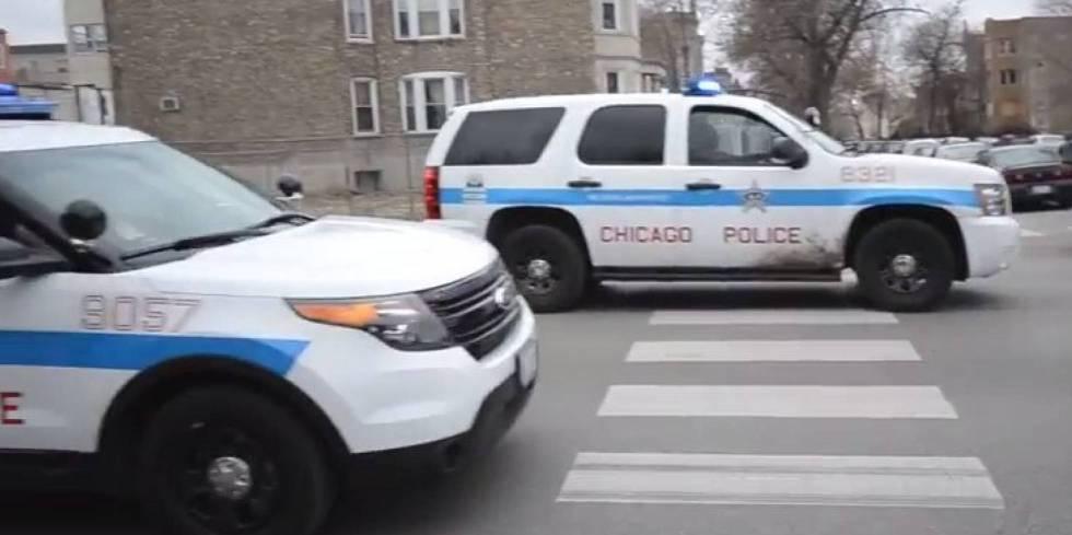 Dos coches de la policía de Chicago, en una imagen de archivo.