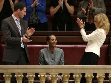 Sheila Abdus-Salaam al ser nombrada en la Corte de Apelaciones de Nueva York, en 2013.
