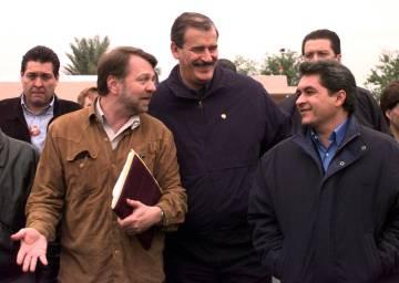 Yarrington junto a Vicente Fox y Jorge Castañeda en Matamoros en el año 2000