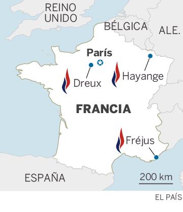 Mapa de localización de Hayange, al noreste de Francia