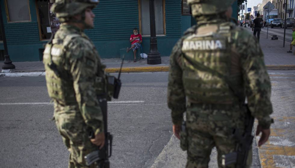 Militares en Matamoros, Tamaulipas.