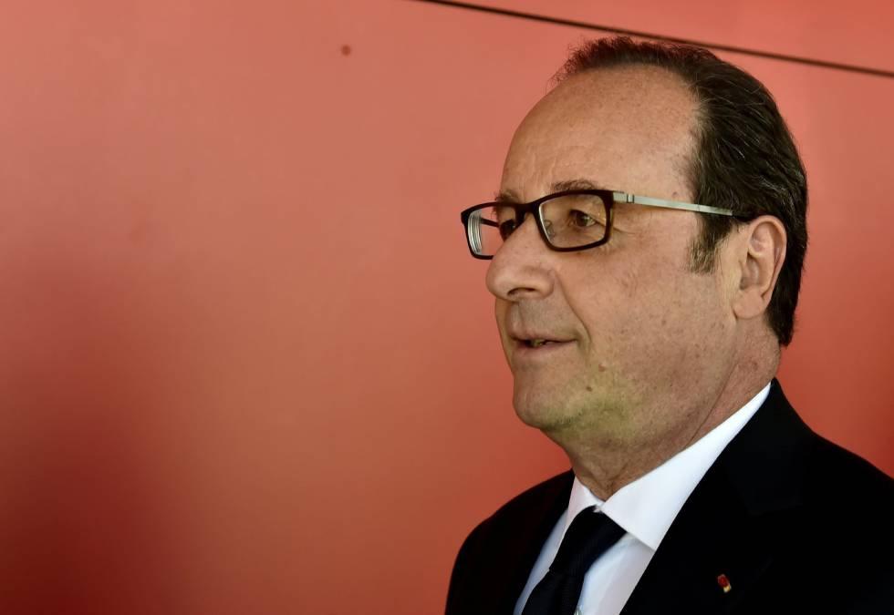 El presidente francés François Hollande, el domingo, día de elecciones