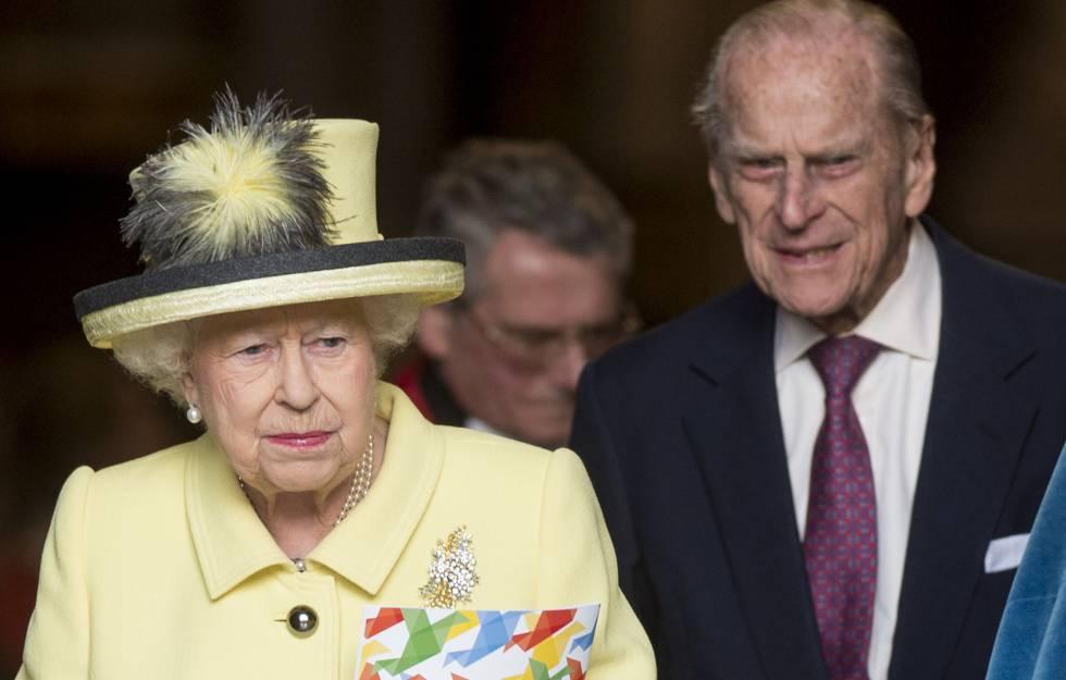La reina y su marido, el pasado 13 de marzo tras una misa en la abadía de Westminster.