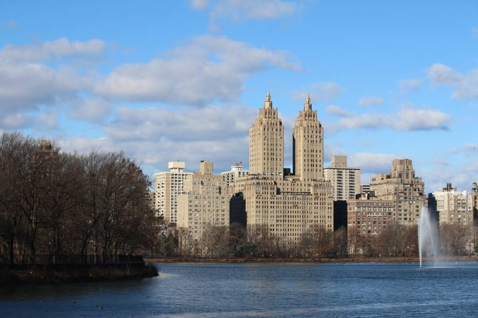 Vista de la reserva Jacqueline Kennedy en Central Park, Manhattan.