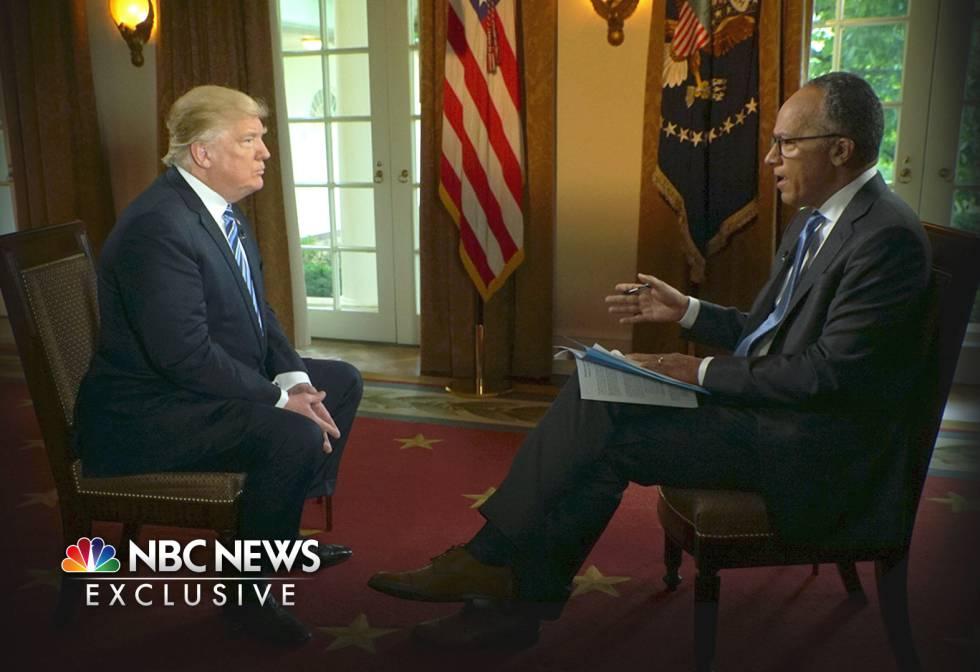 Donald Trump, entrevistado por Lester Holt en la NBC.
