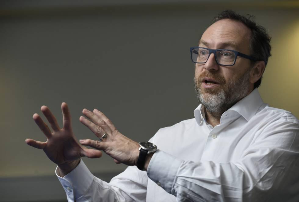 Jimmy Wales, antes de un evento en Lovaina (Bélgica) en 2016.