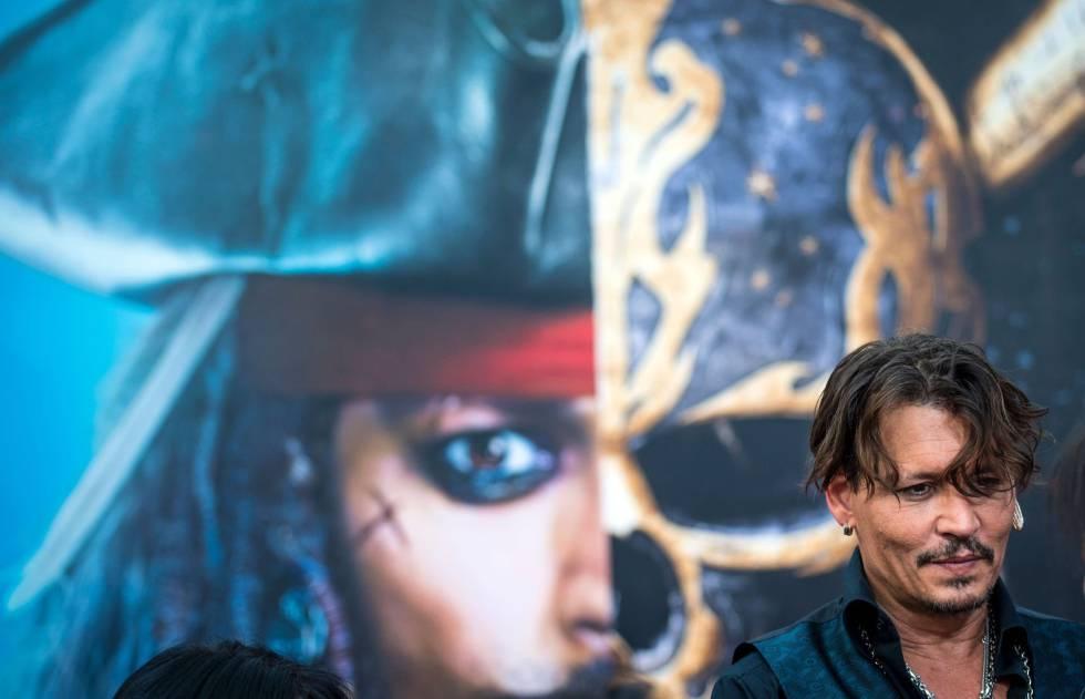 Johnny Depp protagonistas de Piratas del Caribe, de Disney, película que  podría haber sido raptada.