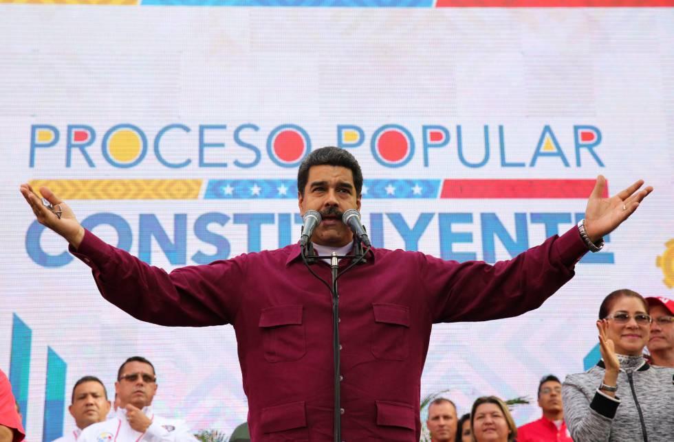 Nicolás Maduro, en un acto hoy en Caracas.