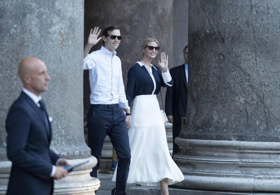 Jared Kushner e Ivanka Trump, el miércoles en Roma