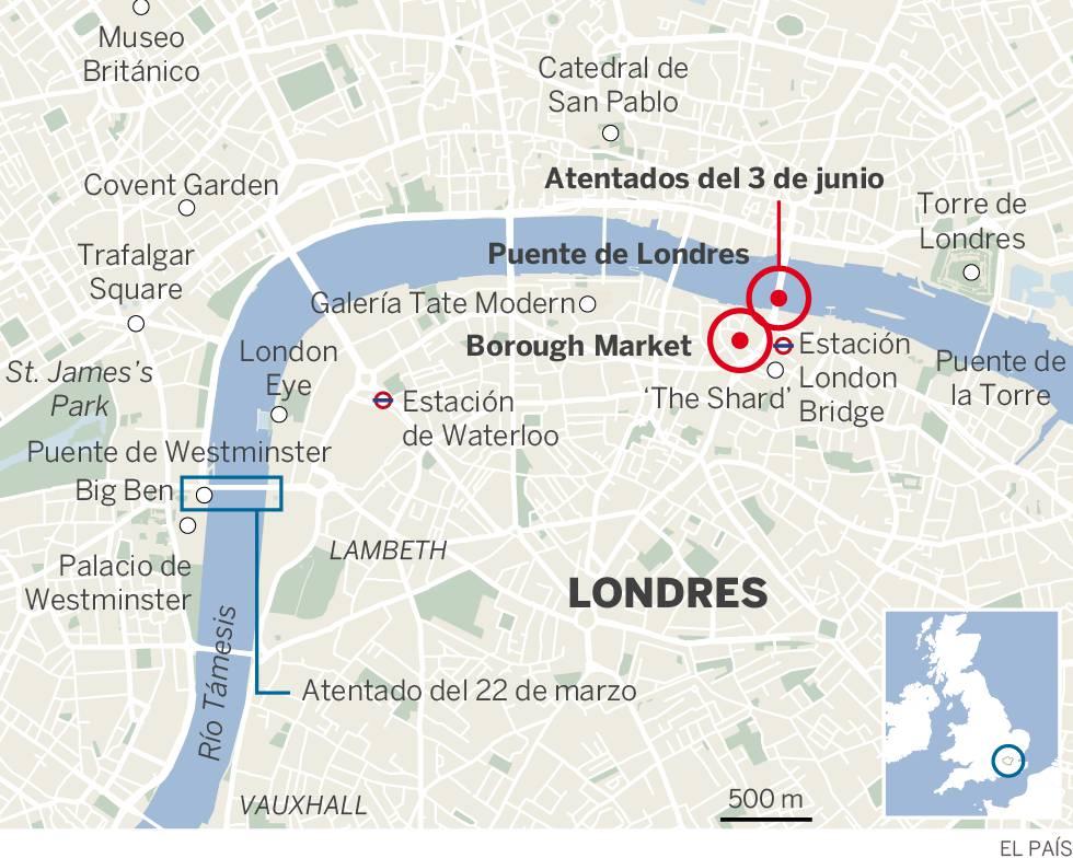 Un ataque terrorista en Londres causa siete muertos y decenas de heridos
