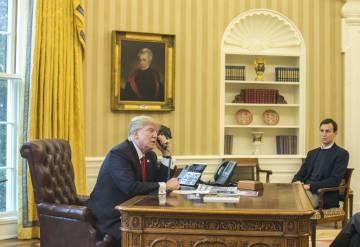 Trump y Kushner, en el Despacho Oval.