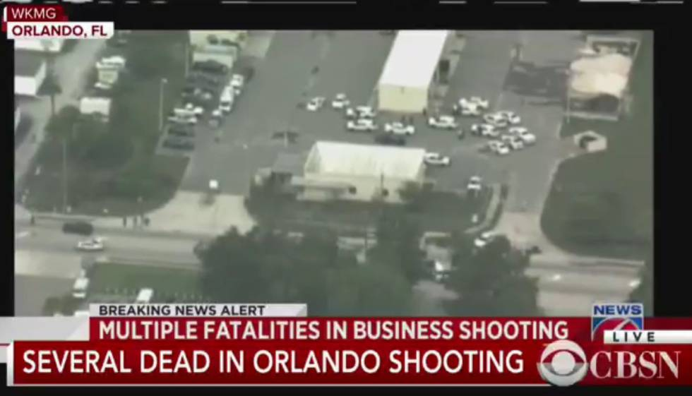 Local do incidente em Orlando.