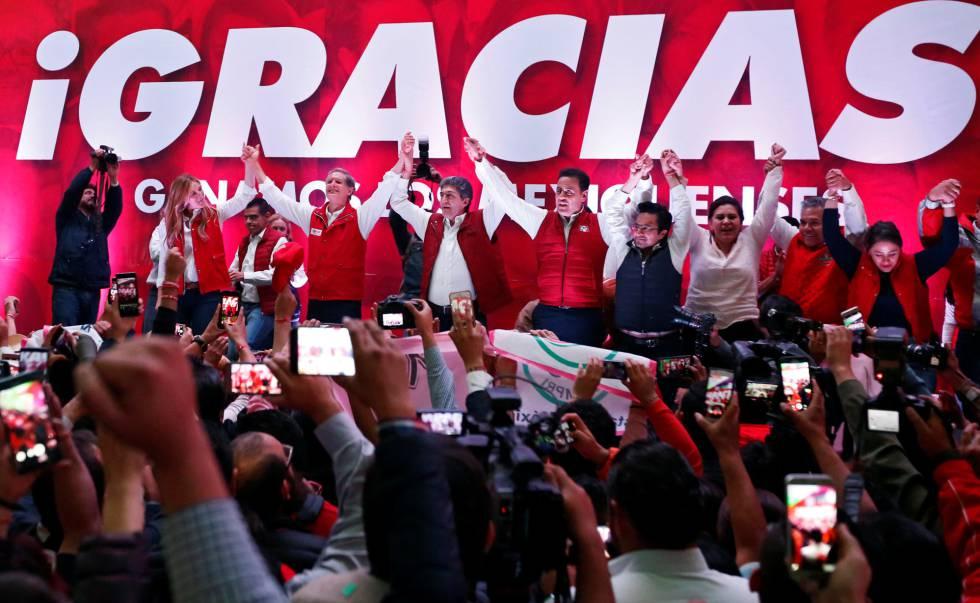 Del Mazo celebra la victoria en el Estado de México.