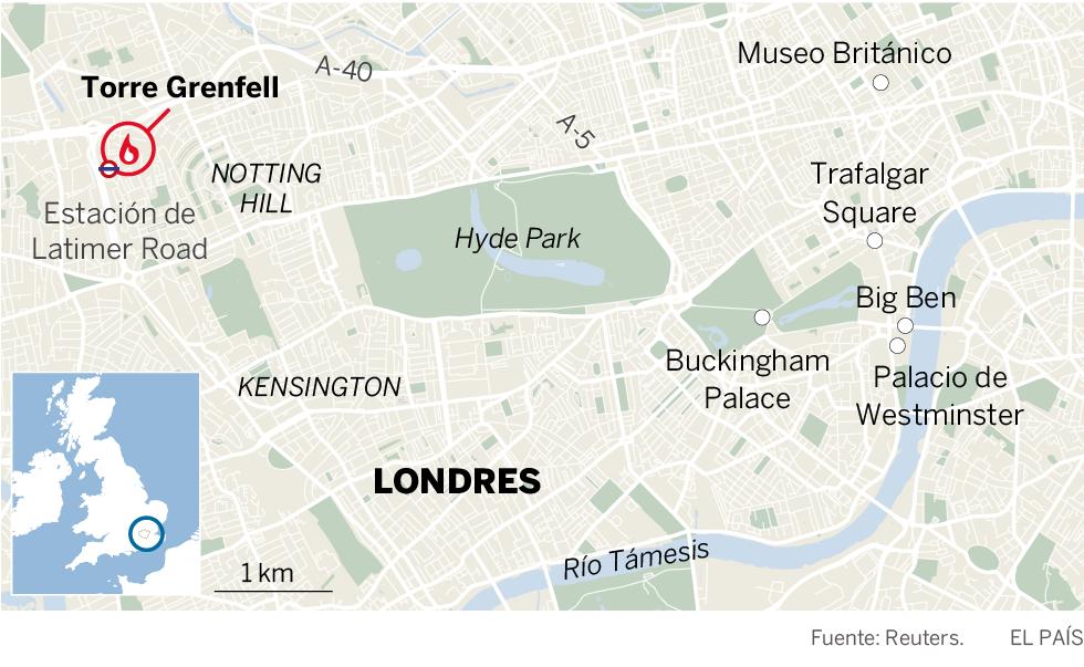 Al menos 12 muertos y 78 heridos en un incendio de un edificio de 24 plantas en Londres