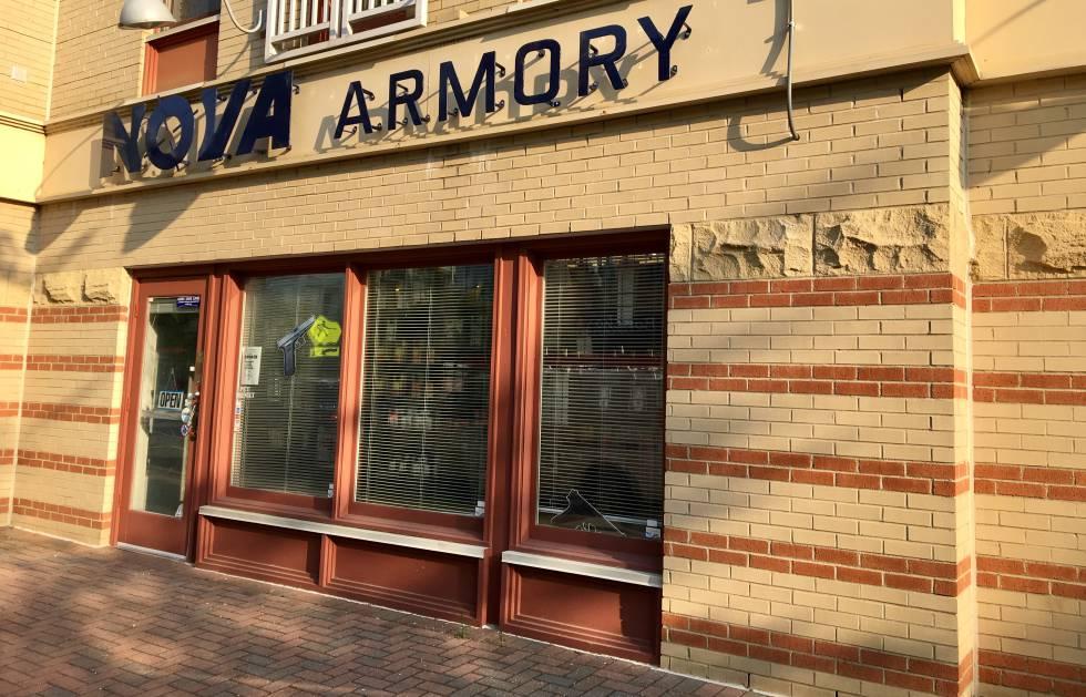 La entrada a la tienda Nova Armory, el miércoles