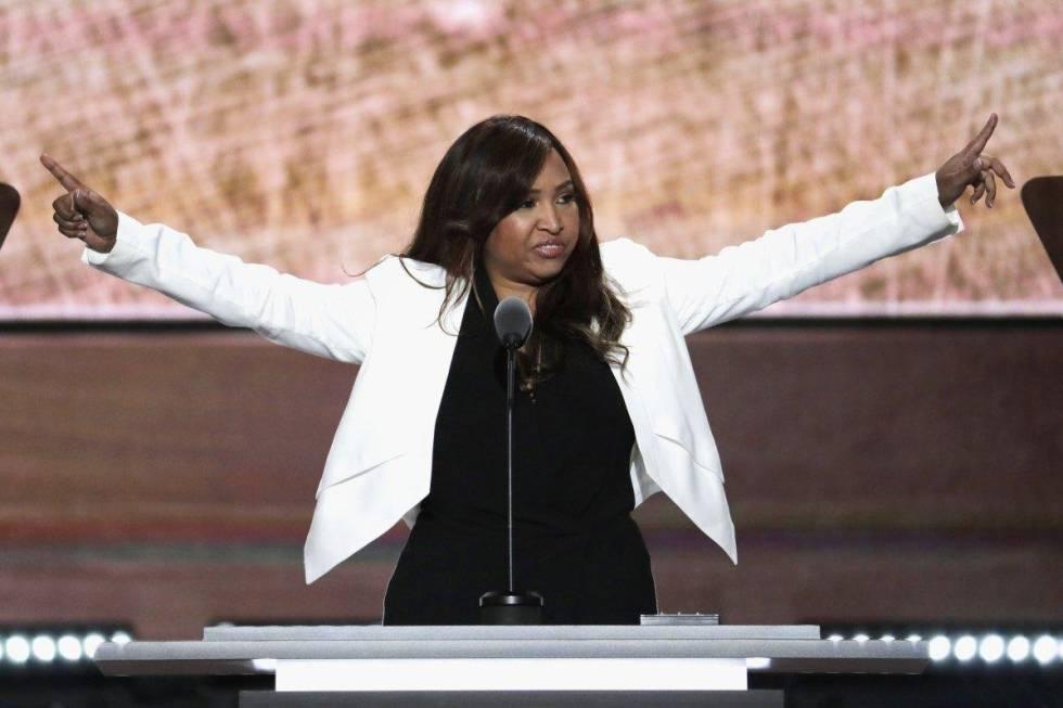 Lynne Patton, en la convención republicana del pasado julio