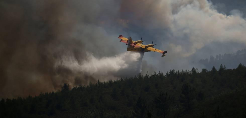 se estrella un avion que combatia el incendio en Portugal