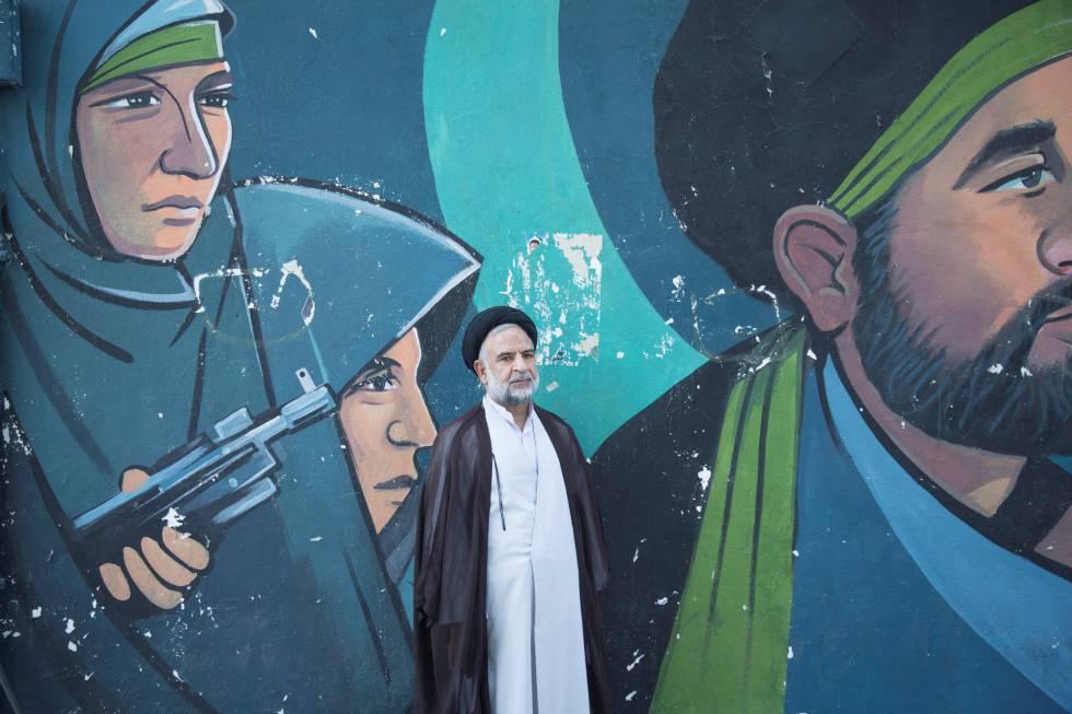 Un clérigo iraní en Teherán.