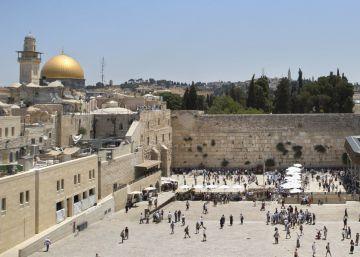 Vista del Muro de las Lamentaciones, en la Ciudad Vieja de Jerusalén.