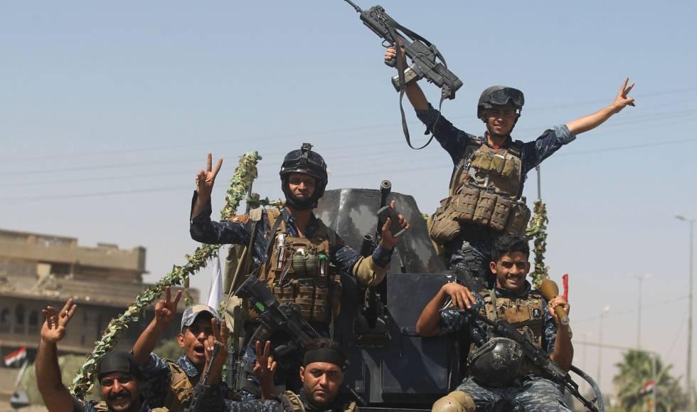 Fuerzas iraquíes, este miércoles tras entrar en la ciudad vieja de Mosul.ñ