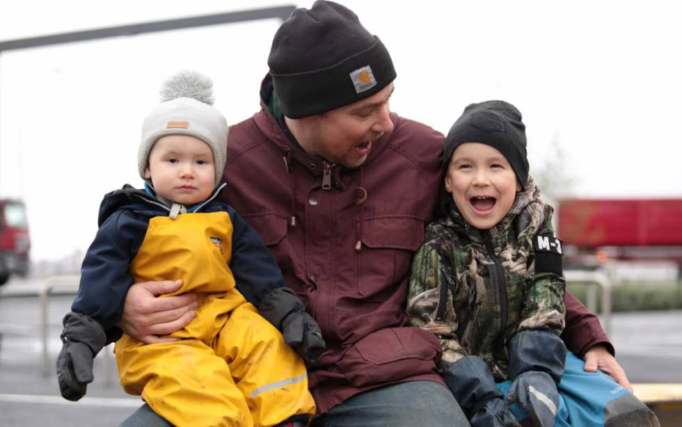 Sami Seppila with his two sons.