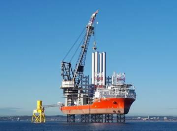 La megaturbina construida en el mar del Norte, cerca de la costa escocesa.