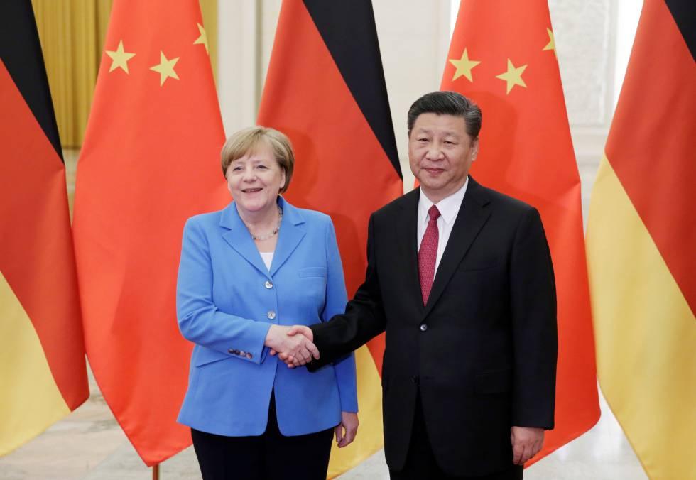 Merkel busca estrechar lazos económicos en su visita a China