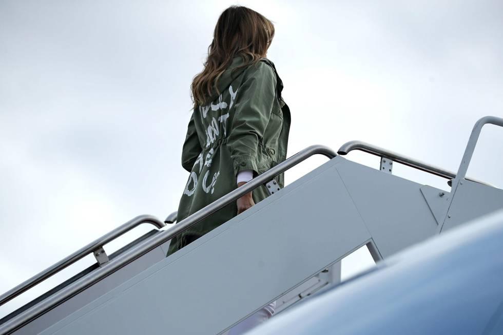 Trump revela para quien iba el mensaje de la chaqueta de Melania