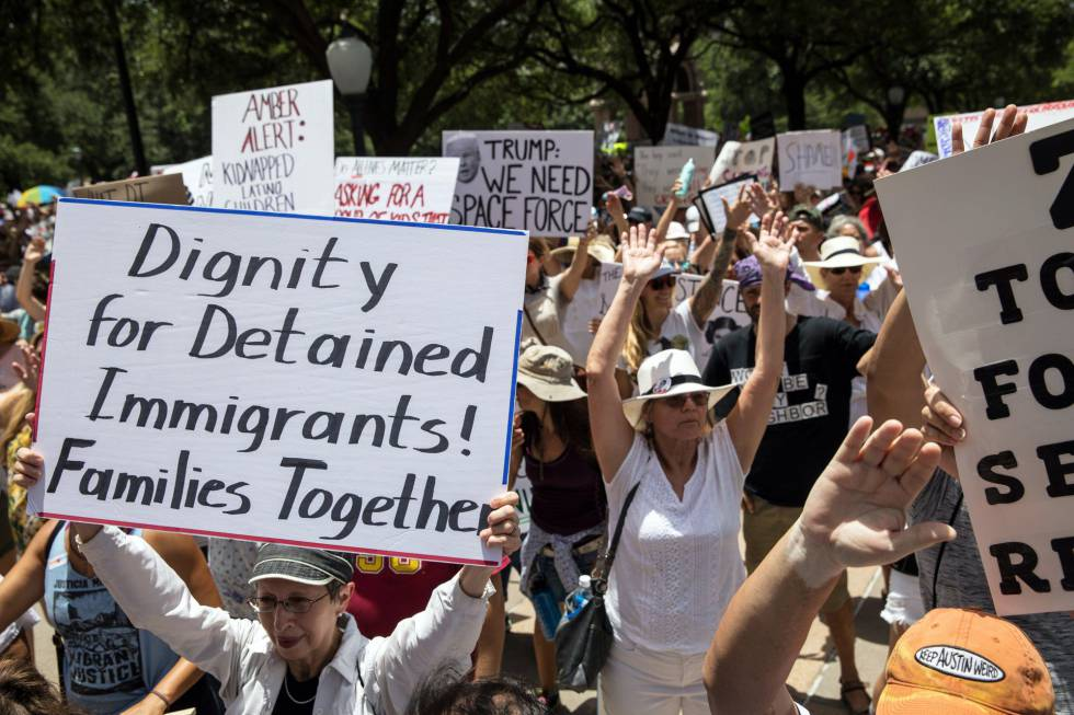 Incumple Trump reunir a niños migrantes con sus padres