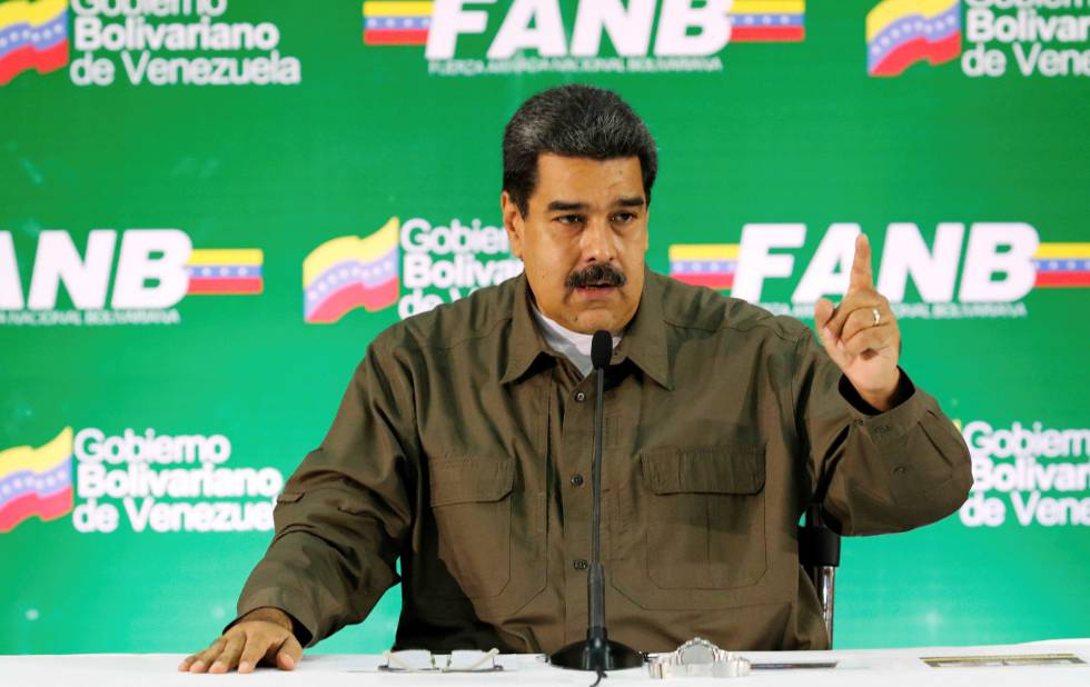 Maduro en un acto militar este sábado en Caracas