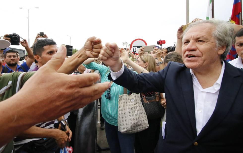 El jefe de la OEA Luis Almagro el viernes en Cúcuta