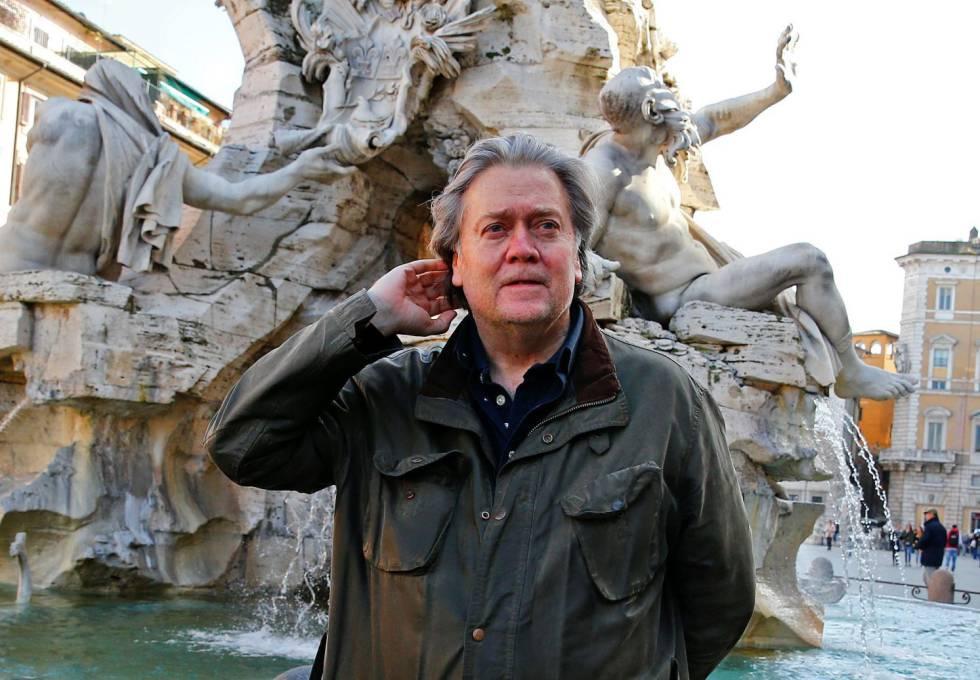 Steve Bannon, em Roma o passado março.