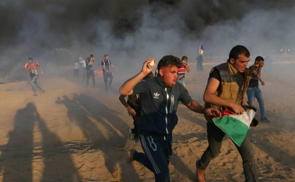 Fuego israelí mata a seis palestinos en protesta en Gaza
