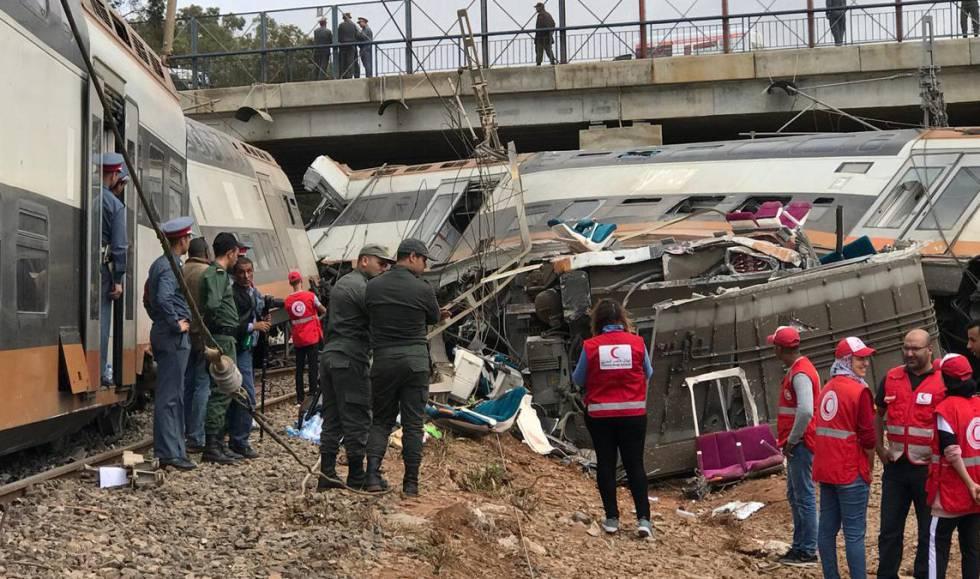 Seis muertos y 72 heridos al descarrilarse tren en Marruecos