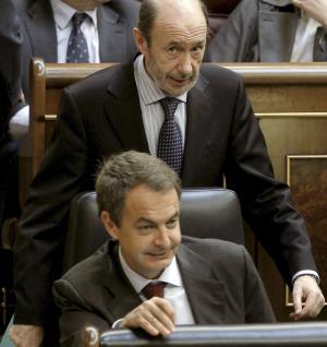 Rubalcaba y Zapatero, hoy en el Congreso