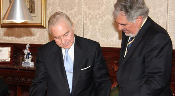 Carlos Dívar y Cándido Conde-Pumpido.