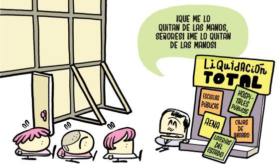 Imagen del cómic 'Españistán. Este país se va a la mierda'.