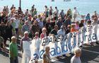 Marcha contra el juicio a Otegi en la Audiencia