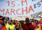 Miles de indignados recorren Madrid antes de llegar a Sol