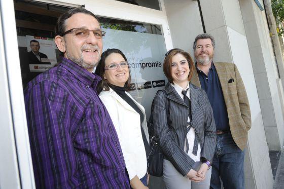 Reunión de integrantes de Compromís pel País Valenciá y Equo en Valencia en junio.