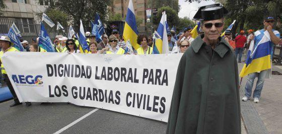 Manifestación de la Guardia Civil en Madrid en septiembre de 2010.
